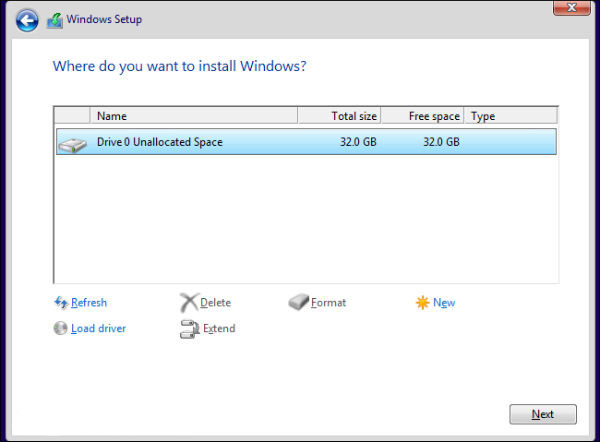 Install Windows 10 with cd
